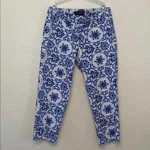 Talbots Abstract Print Cropped Heritage Pant